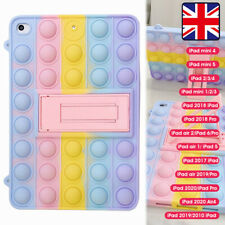 "FOR iPad 8th 7th Generation 10.2"" 2020 Pop Fidget Toys Push It Bubble Case Cover"