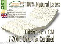 Oeko-Tex Eco Certified 7-ZONE 100% Full Natural Latex Mattress Topper All Sizes