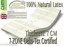 Oeko-tex Eco Certified 7-zone 100 Full Natural Latex Mattress Topper All Sizes Spinal Pedic 15cm King 10cm