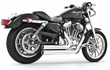 INDEPENDENCE CHROME SHORTY EXHAUST Freedom Harley XL Sportster 2004-2013