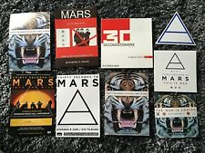 6 rare 30 Seconds to Mars Official Stickers & 3 Official Fliers / Jared Leto