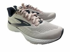 Brooks Womens Launch 8 Running Shoes Beige 1203451B653 Low Top Lace Up Mesh 7 B