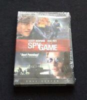 Spy Game (DVD, 2002, Full Frame Collectors Edition) Robert Redford, Brad Pitt