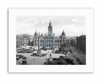 GLASGOW GEORGE SQUARE SCOTLAND HISTORY OLD BW Vintage Canvas art Prints