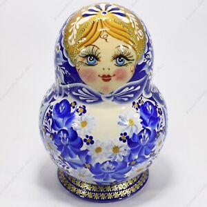 """10 Pièces 6 """" Authentique Russe Ghzel Matryoshka Babushka Nesting Poupées 10PCS"""