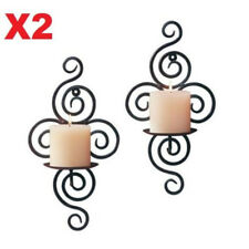 1 Pair of Swirling Iron Hanging Wall Candleholder Candle Holder Sconce Decor ♫