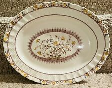 "COPLAND SPODE CHELSEA WICKER ""BUTTERCUP"" PATTERN SERVING DISH / TRAY WITH STAMP"