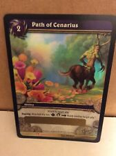 Path of Cenarius Loot carte World Warcraft Flower Footstep Fields Honor WOW TRADING CARD GAME