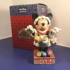 Jim Shore Walt Disney Statue Enesco Nib Box Minnie Mouse Christmas Cheer 4005625