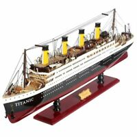 1912 RMS TITANIC SHIP Wooden Model Cruise Fully Assembly Sailing Boat Craft US