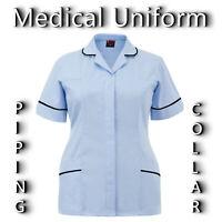 Healthcare Tunics Medical Scrubs PIPING COLLAR Uniform Nurses Hospital Scrubs