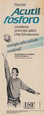X3101 Acutil Fosforo - Pubblicità d'epoca - 1984 vintage advertising