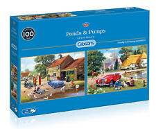 GIBSONS PONDS & PUMPS 2 x 500 PIECE JIGSAW PUZZLE SET KEVIN WALSH G5050 NEW 2019