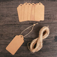 Card Luggage 20M Rope Price Label Kraft Paper Gift Tag Hanging Ornaments
