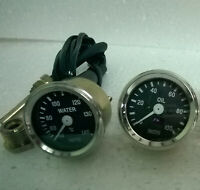 "Smiths Replica 52 mm 2 1/16"" Gauges Kit - Temp + Oil pressure gauge"