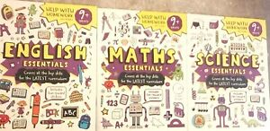 English Maths & Science  essentials  9+ years Help with homework /3X  workbooks