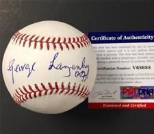 "GEORGE LAZENBY James Bond ""007"" inscription signed MLB Baseball ~ PSA/DNA COA"