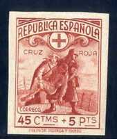 SELLOS DE ESPAÑA 1938 Nº 767 SIN DENTAR CRUZ ROJA ESPAÑOLA NUEVO A1