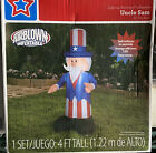 Uncle Sam 4 Foot Airblown Inflatable Patriotic Yard Decor Lights Up! Presidental
