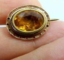 Antique Georgian 15 + 18 ct Gold and Foil Back Paste Dome Back Brooch circa 1700