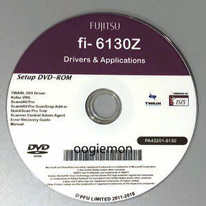 Setup DVD for Fujitsu fi-6130Z - Driver Installation APP Software - Windows