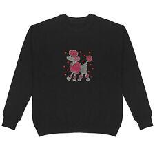Poodle with Heart Women's Sweatshirt Plus Size Unisex Bling Handmade Cute Animal