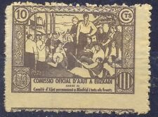 Spain, 10 cents propoganda stamp without glue about frint near Madrid in civil