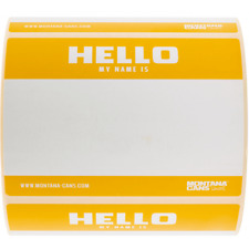 Montana 'Hello My Name Is' Sticker Roll - Yellow