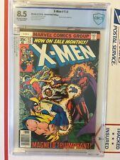 X-Men 112_CBCS 8.5_like CGC_Magneto cover/app._Byrne/Austin art_1978_WHITE pages