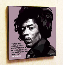 Jimi Hendrix Painting Decor Print Wall Art Poster Pop Canvas Quotes Decals