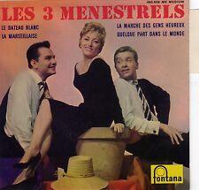 LES 3 MENESTRELS LE BATEAU BLANC FRENCH ORIG EP ARMAND MIGIANI