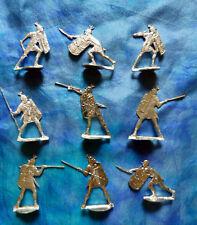 Plats d'étain Menz - flat tin - Zinnfiguren - Lot de 9 légionnaires romains