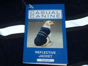 DOG/Pet  REFLECTIVE JACKET  by Casual Canine size Medium NWT   navy blue
