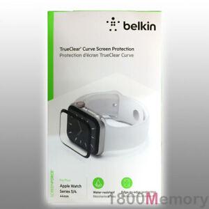 GENUINE Belkin Screen Force TrueClear Curve Glass Protector Apple Watch 5 4 44mm