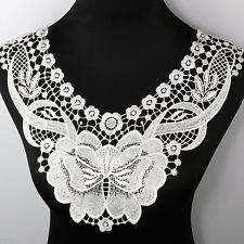 Flower Embroidery Venise Neck Collar Badge Applique Patch Lace Trim Dress Sewing