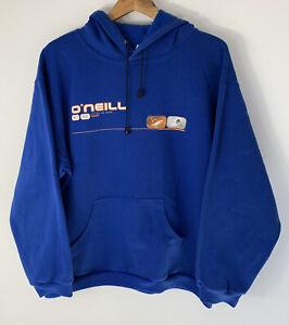 Vintage O'Neill Mens Size M Medium Hoodie Blue Australia Surf Wear Logo Pullover