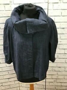 Denim jacket Funnel Neck Jacket Ladies Indigo Blue Size Large