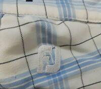 FOOTJOY Mens Size 36 Blue/White/Black Plaid Flat Front Golf Shorts  FJ