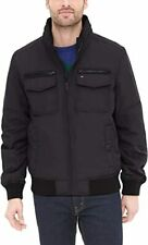 Tommy Hilfiger Mens Performance Bomber Jacket, Black,...