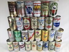 Lot of 30 Vintage Pull Tab Few Steel Beer Cans Few Rare Emptied Can Collection C