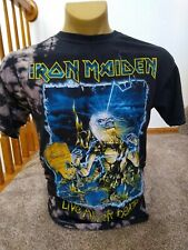 Iron Maiden Live After Death Custom Tye Dye Cut Back T-Shirt Size Large