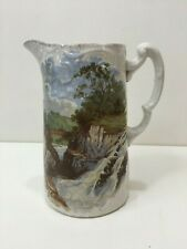 """Antique Stoke on Trent Staffordshire Bros England Pitcher, 6"""" tall x 5"""" Widest"""
