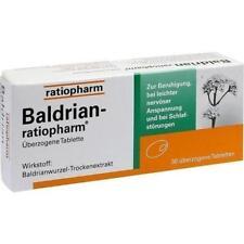 BALDRIAN RATIOPHARM überzogene Tabletten 30 St PZN 7052690