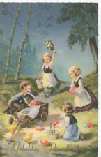 gelukkig Paasfeest Vintage Netherlands Christmas postcard