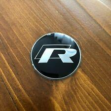"""New - Volkswagen™ VW □R Line GTI Black Steering Wheel Emblem Badge R 1.75"""" 45mm"""