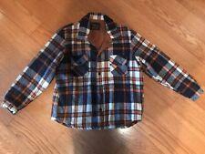 Vintage Cal Craft Plaid Jacket Coat Barn Rockabilly Mens Size Medium Lined