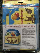 Curious George 12 Loot Boxes Party Favor Party Supplies NEW