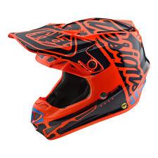 Troy Lee Designs SE4 Polyacrylite Factory Youth MX Offroad Helmet Orange