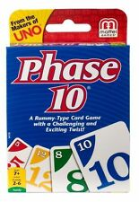 Phase 10 Rummy-type Family Card Game With a Twist Mattel Ages 7