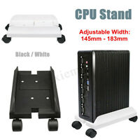 2 Colors PC Desktop CPU Stand Holder Computer Tower Case Wheels Width  US!